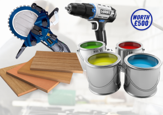 Win £500 Worth Tools and equipment UK