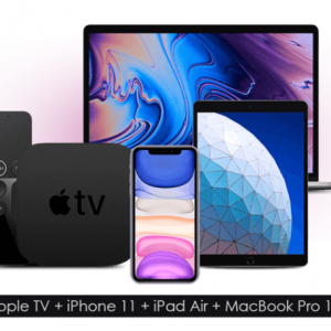 Win Apple TV + iPad Air + Macbook Pro 13 + iPhone 11 UK